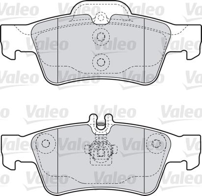 Kit de plaquettes de frein, frein à disque - VALEO - 598637