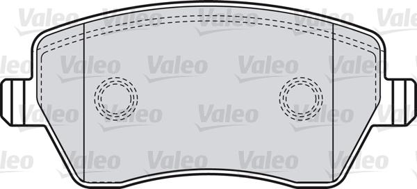 Kit de plaquettes de frein, frein à disque - VALEO - 598641