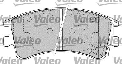 Kit de plaquettes de frein, frein à disque - VALEO - 598648