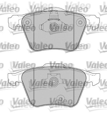 Kit de plaquettes de frein, frein à disque - VALEO - 598657