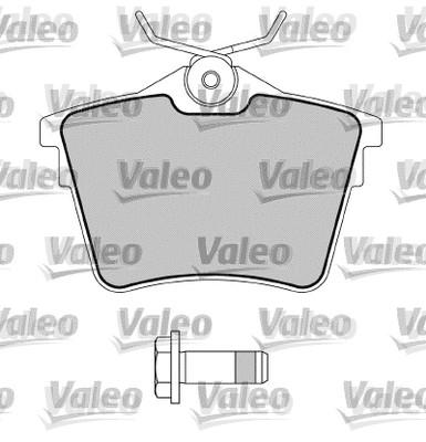 Kit de plaquettes de frein, frein à disque - VALEO - 598664