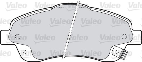 Kit de plaquettes de frein, frein à disque - VALEO - 598665