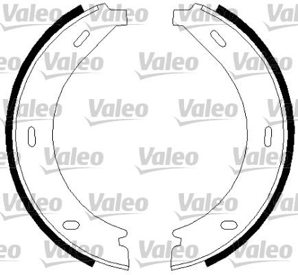 Jeu de mâchoires de frein, frein de stationnement - VALEO - 562745