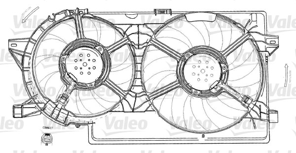 Moteur électrique, ventilateur pour radiateurs - VALEO - 696012