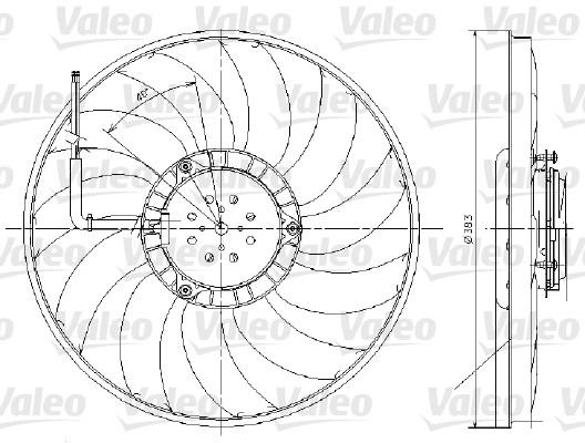 Ventilateur, refroidissement du moteur - VALEO - 696017