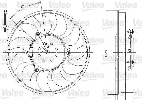 Ventilateur, refroidissement du moteur - VALEO - 696018