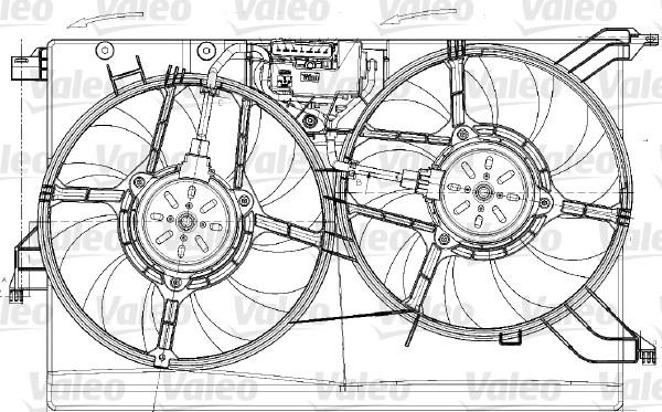 Moteur électrique, ventilateur pour radiateurs - VALEO - 696020