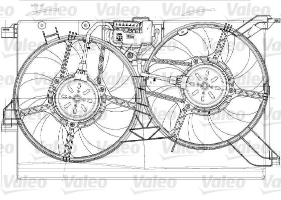 Moteur électrique, ventilateur pour radiateurs - VALEO - 696023