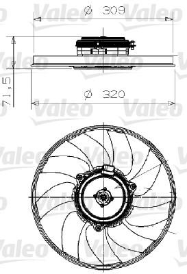 Ventilateur, refroidissement du moteur - VALEO - 696027
