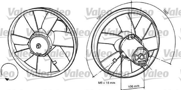 Ventilateur, refroidissement du moteur - VALEO - 696034