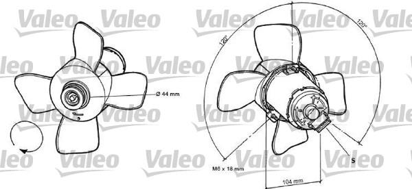 Ventilateur, refroidissement du moteur - VALEO - 696038