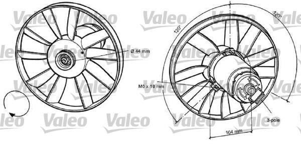 Ventilateur, refroidissement du moteur - VALEO - 696039