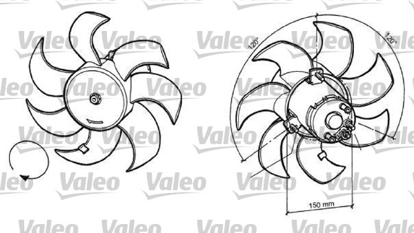 Ventilateur, refroidissement du moteur - VALEO - 696049