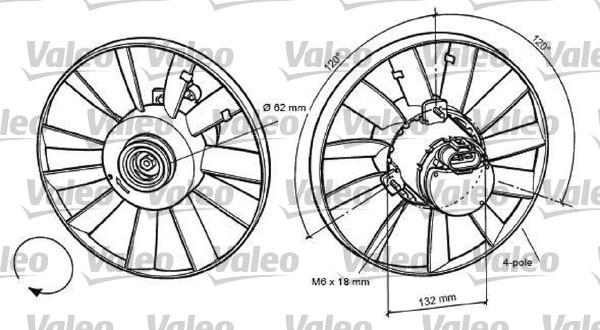 Ventilateur, refroidissement du moteur - VALEO - 696057