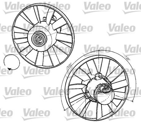Ventilateur, refroidissement du moteur - VALEO - 696059