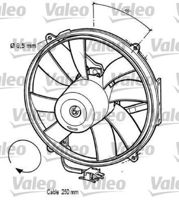 Moteur électrique, ventilateur pour radiateurs - VALEO - 696062