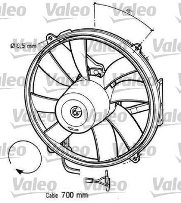 Moteur électrique, ventilateur pour radiateurs - VALEO - 696063