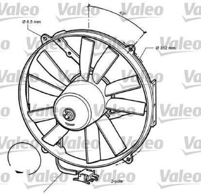 Ventilateur, refroidissement du moteur - VALEO - 696068