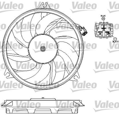 Ventilateur, refroidissement du moteur - VALEO - 696069