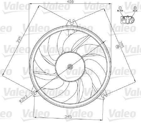 Ventilateur, refroidissement du moteur - VALEO - 696070