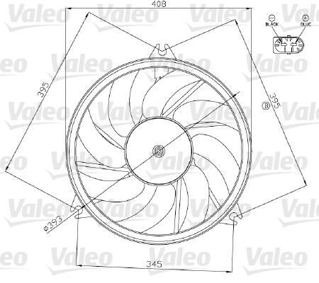 Ventilateur, refroidissement du moteur - VALEO - 696074