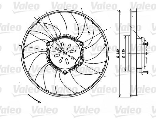 Ventilateur, refroidissement du moteur - VALEO - 696082