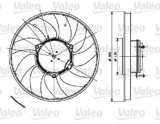 Ventilateur, refroidissement du moteur - VALEO - 696083