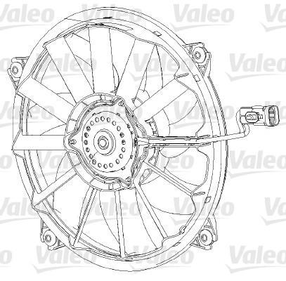Ventilateur, refroidissement du moteur - VALEO - 696091