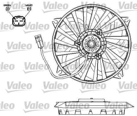 Ventilateur, refroidissement du moteur - VALEO - 696132