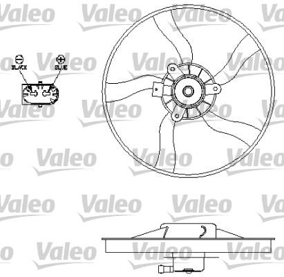 Ventilateur, refroidissement du moteur - VALEO - 696134