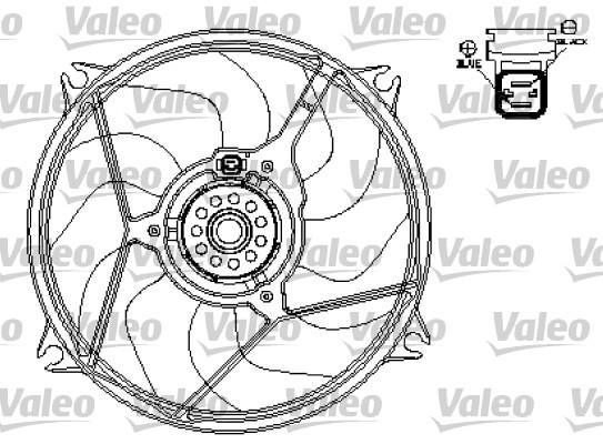 Ventilateur, refroidissement du moteur - VALEO - 696136