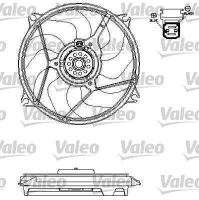 Ventilateur, refroidissement du moteur - VALEO - 696138