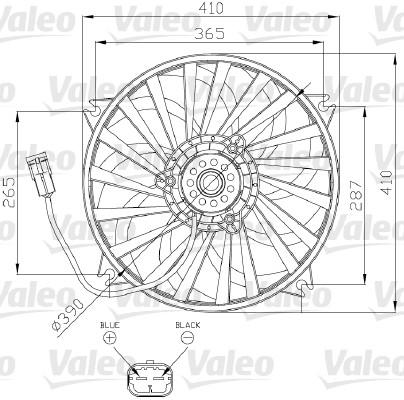 Ventilateur, refroidissement du moteur - VALEO - 696139