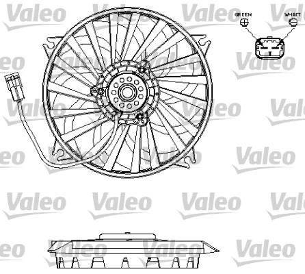 Ventilateur, refroidissement du moteur - VALEO - 696141
