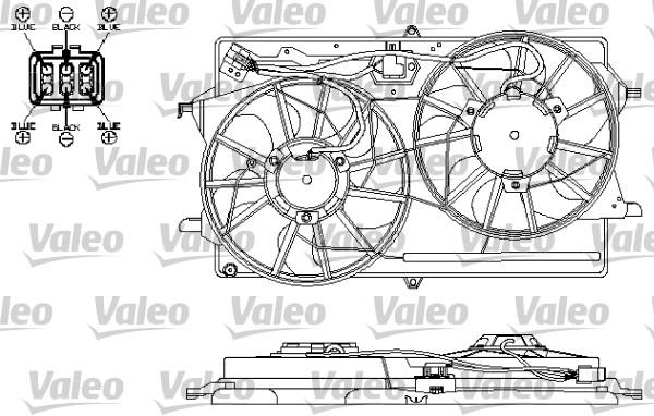 Moteur électrique, ventilateur pour radiateurs - VALEO - 696149