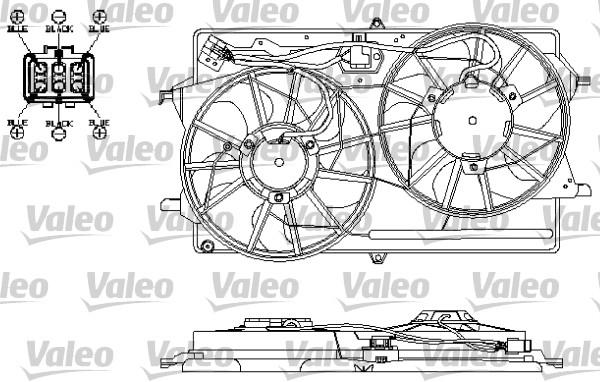 Moteur électrique, ventilateur pour radiateurs - VALEO - 696150