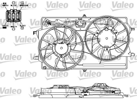 Moteur électrique, ventilateur pour radiateurs - VALEO - 696153