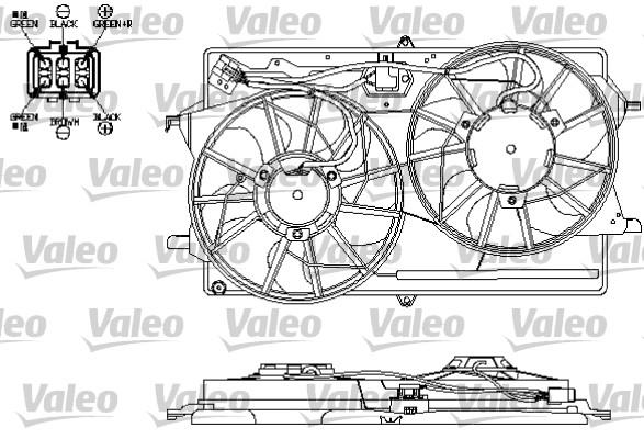 Moteur électrique, ventilateur pour radiateurs - VALEO - 696154
