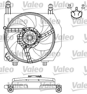Moteur électrique, ventilateur pour radiateurs - VALEO - 696160