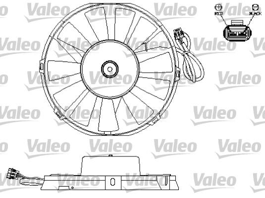 Moteur électrique, ventilateur pour radiateurs - VALEO - 696172