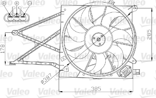 Ventilateur, refroidissement du moteur - VALEO - 696173