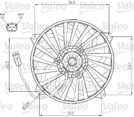 Ventilateur, refroidissement du moteur - VALEO - 696174