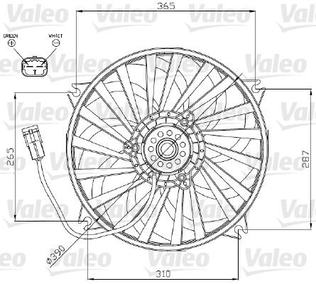 Ventilateur, refroidissement du moteur - VALEO - 696177