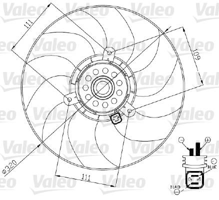 Ventilateur, refroidissement du moteur - VALEO - 696188