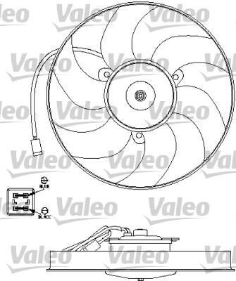 Ventilateur, refroidissement du moteur - VALEO - 696191