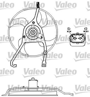Ventilateur, refroidissement du moteur - VALEO - 696210