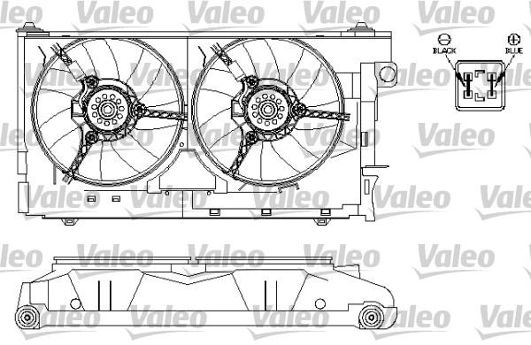 Moteur électrique, ventilateur pour radiateurs - VALEO - 696212