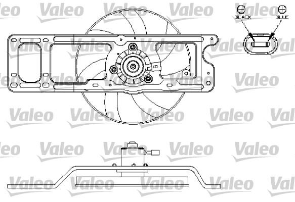 Moteur électrique, ventilateur pour radiateurs - VALEO - 696216