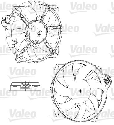 Ventilateur, refroidissement du moteur - VALEO - 696229