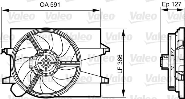 Moteur électrique, ventilateur pour radiateurs - VALEO - 696278